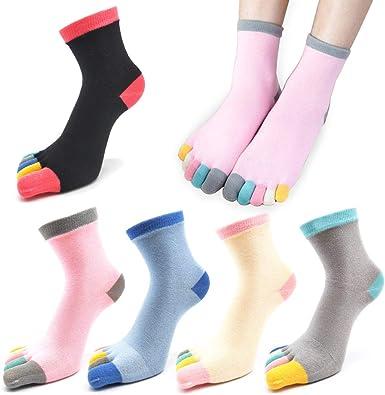 Women Five Finger Toe Socks Cotton Ankle Casual Sports Breatheable FA