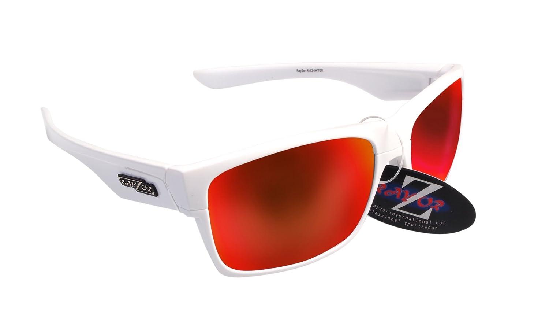 Rayzor profesionales ligeros UV400 Blanco Deportes Wrap ciclismo Gafas de sol, con un Iridium Rojo Espejo antideslumbrante lente: Amazon.es: Deportes y aire ...