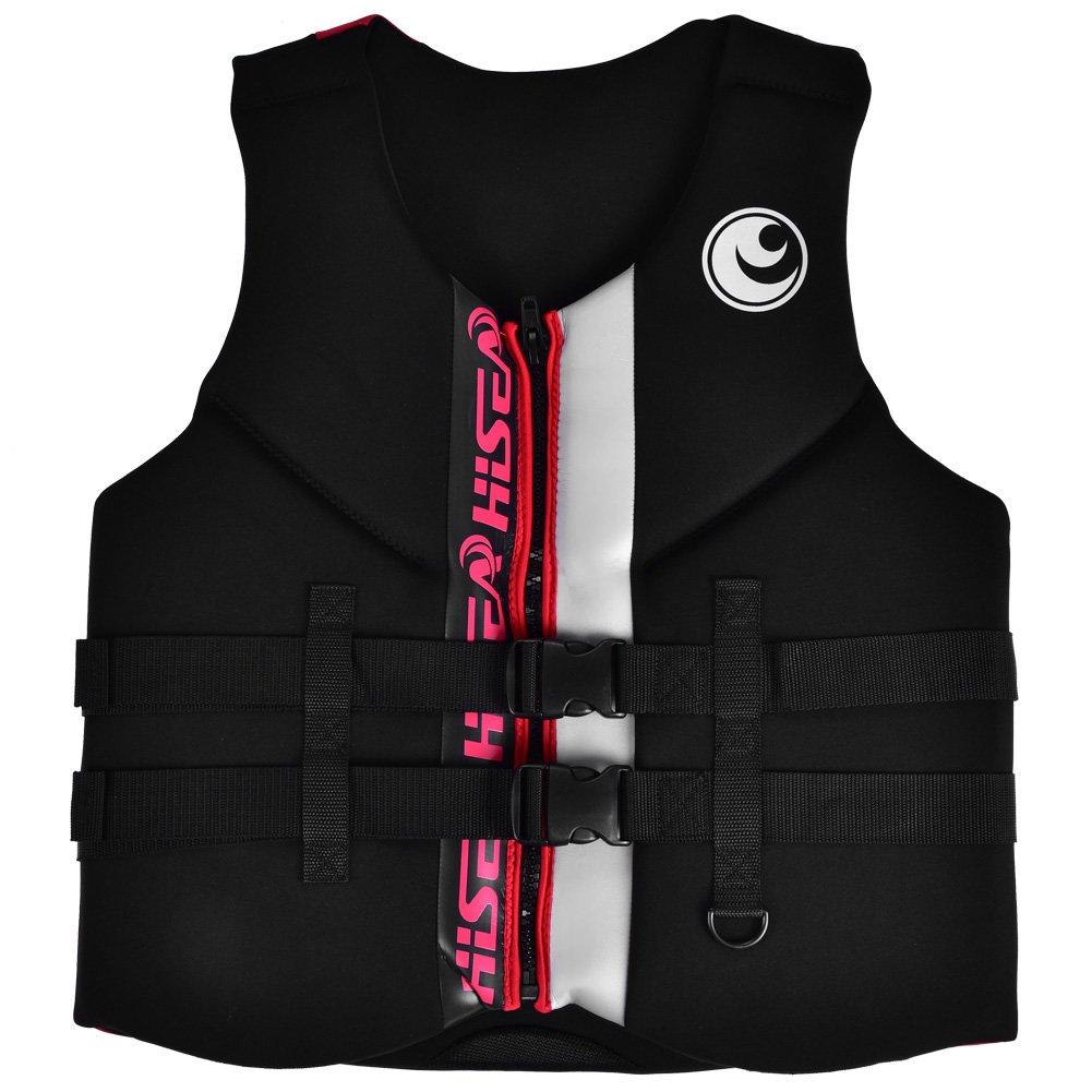 dilweポータブルネオプレンライフジャケット大人用一般的な目的Boating Vest with Zipper andバックルボート釣り用 Medium  B07F39X5P8
