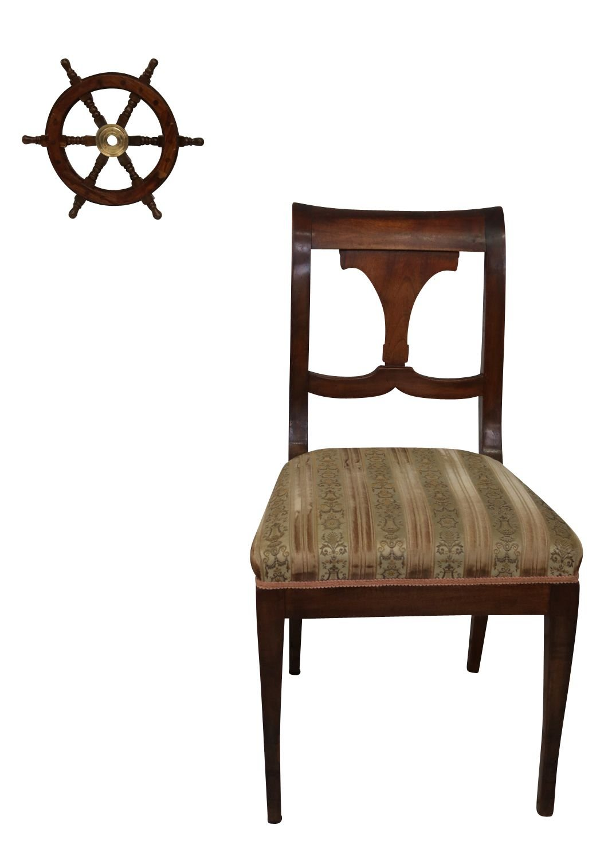 Nave volante rueda barco de madera lat/ón 31cm estillo antiguo
