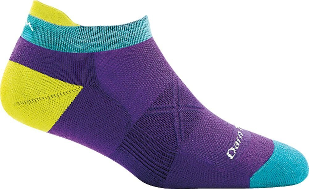 Darn Tough Vertex Coolmax No Show Tab Ultra-Light Cushion Sock - Women's Purple Medium