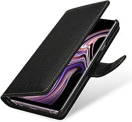 StilGut Talis Case Portafoglio, Custodia in Vera Pelle Cover per Samsung Galaxy Note 9 con Chiusura Magnetica, Nero