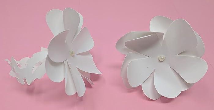 Amazon Mini Paper Flowers Napkin Rings Round Petals 3