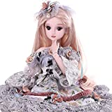 Funnybuy 60cm 19 Jointed Ball-jointed Doll+Face Make UP+Dress+Headdress+Shoes