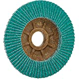 CS Unitec 93614 PLANTEX Cool Top Flap Disc for Grinding Stainless Steel, 4'' Diameter, 5/8'' Arbor, 40 Grit (Pack of 50)
