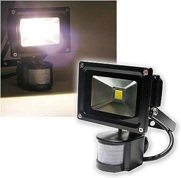 10 W Foco LED con sensor de movimiento 1000 lm, negro: Amazon.es: Electrónica