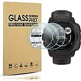 Diruite 3-Pack for Garmin Instinct Tempered Glass Screen Protector for Garmin Instinct Smartwatch [2.5D 9H Hardness…