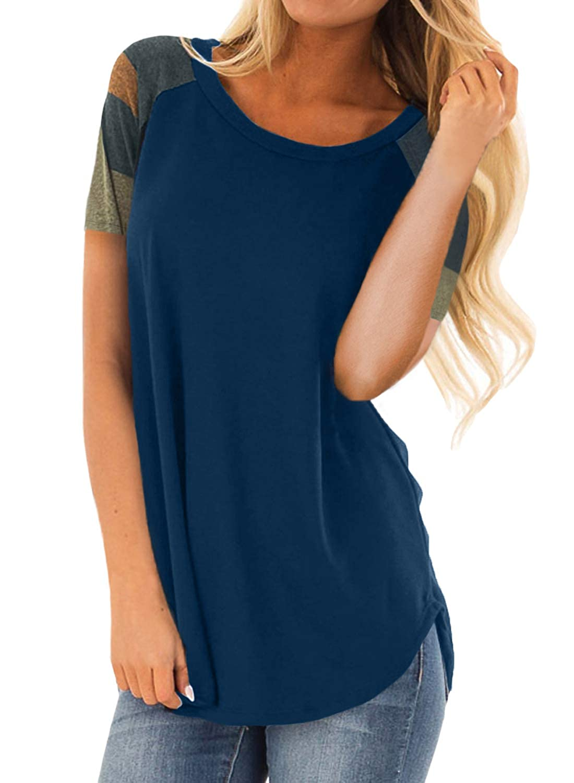 Asvivid Asvivid Asvivid Damen T-Shirt, Gestreift B07L9RNGD3 Sweatshirts & Kapuzenpullover Trendy 05e5a7