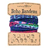 This super-versatile Mixed Print Boho Bandeau can be worn 12 different ways! It has just the right amount of stretch... not too tight that you'd headache but snug enough to stay in place during all of your favorite activities.Wrap around your...