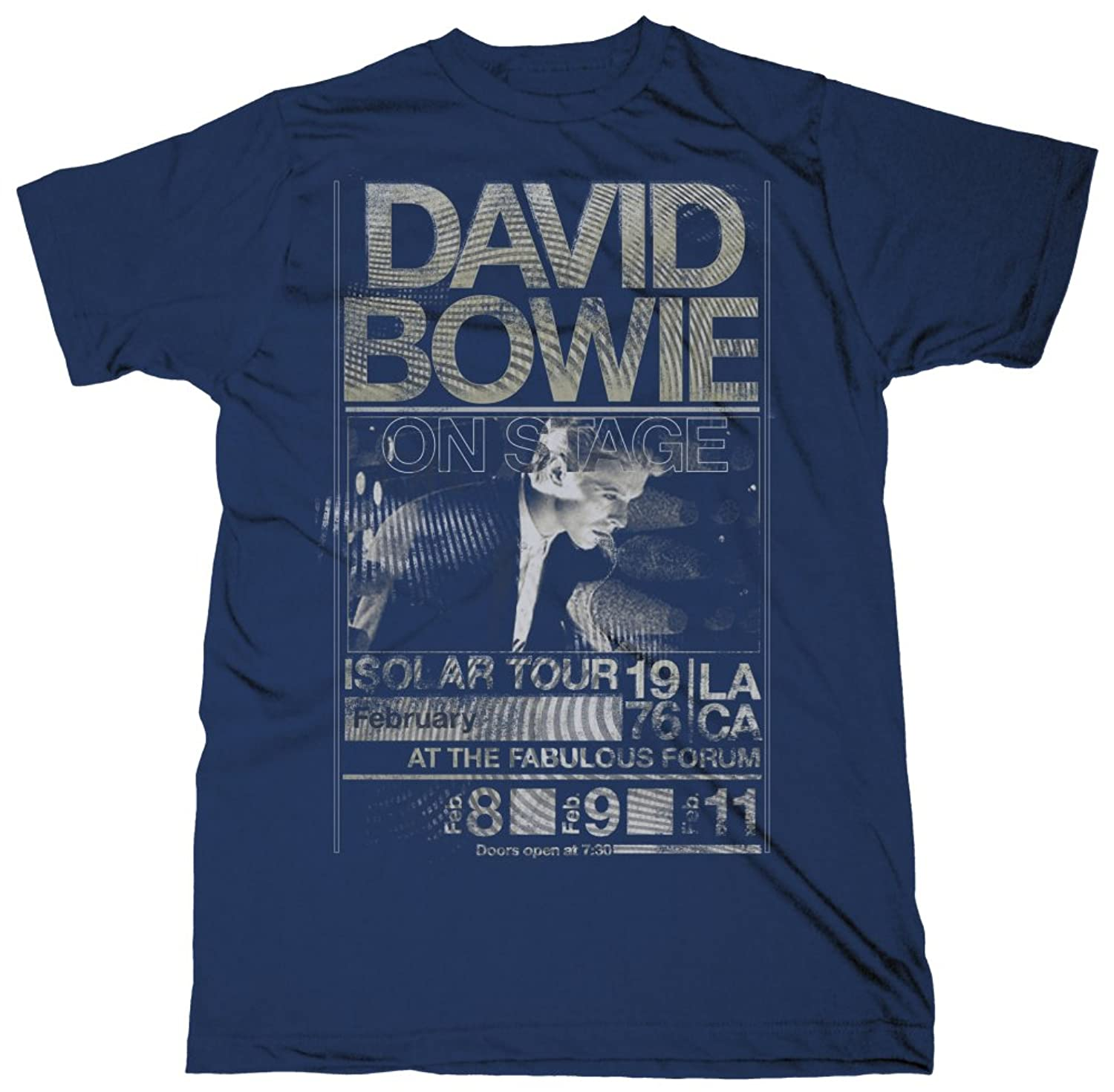 David Bowie - Mens Isolar Tour 1976 Slim Fit T-shirt in Navy
