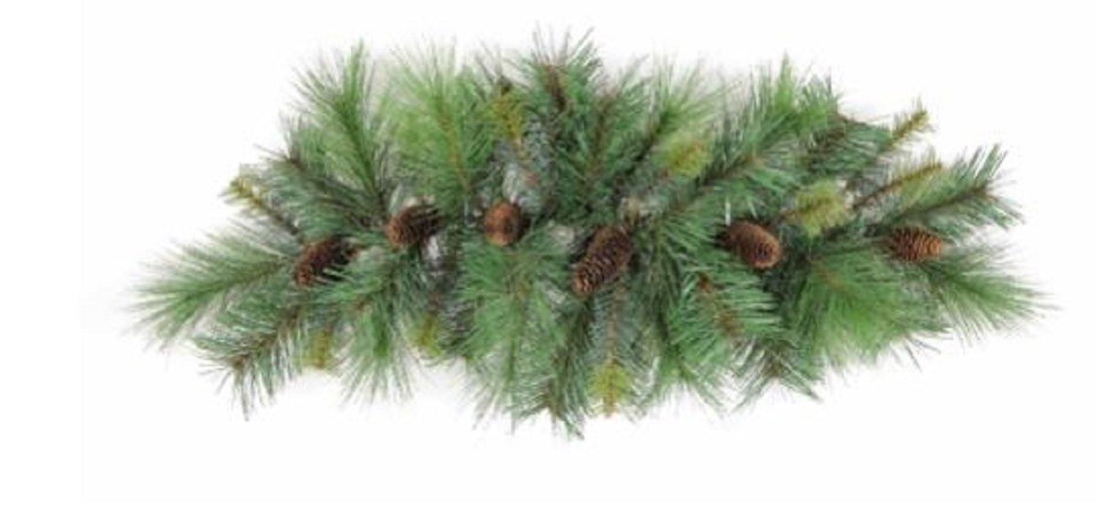 JMB Christmas Mixed Pine & Multi-Sized Pinecone Swag 32''