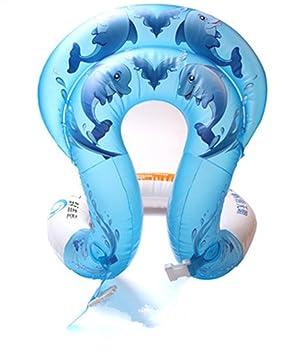 Flotador Hinchable para cuello, chaleco de seguridad para niños, bebés, adultos, patrón de delfín, azul: Amazon.es: Deportes y aire libre