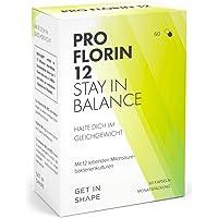 Pro Florin 12 – Kulturen Komplex - 60 Kapseln der 12 wichtigsten Bakterienstämme (hochdosiert mit 20 Mrd. KbE), Vitamin B6, B12 - Effektive Mikroorganismen zum Darmflora Aufbau von Get In Shape