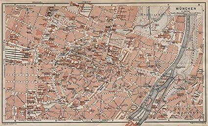 Munich München Town City Plan Bayern Bavaria Germany Deutschland