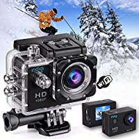Indigi 4K Action Sports Camera Camcorder DV HDMI [ Waterproof Case + Wide Angle Lens + Mounts Included + WiFi Tethering to smartphones ]