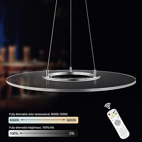 KJLARS 36W tondo LED dimmerabili lampada a sospensione design ...