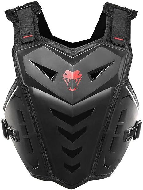 per adulti Herobiker con protezioni per torace e schiena Gilet protettivo da moto ideale per il fuoristrada