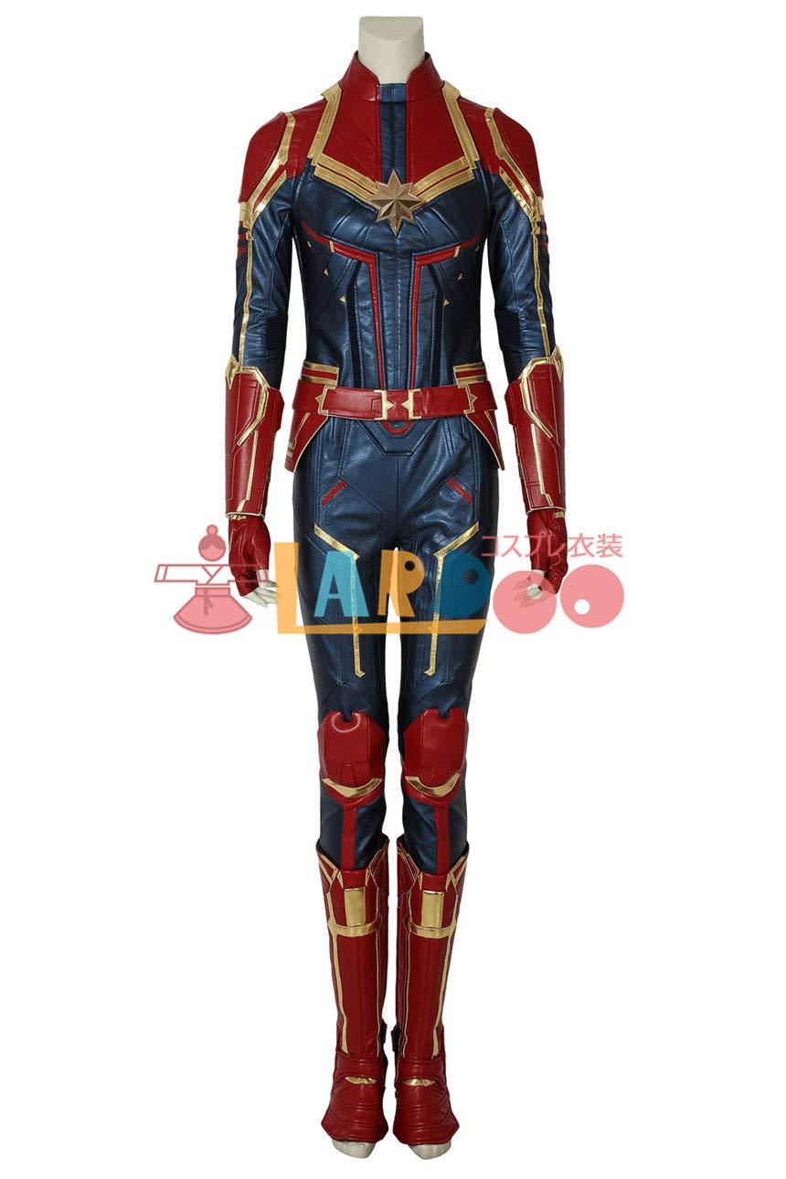 キャプテンマーベル 映画 キャロルダンバース Captain Marvel Carol Danvers コスプレ衣装 B07JJQVQPP 女 S  女 S