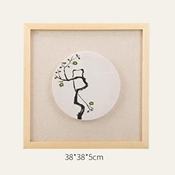 Innenbeleuchtung, Handbemalte Kunst Moderne Einfache Chinesische  Schlafzimmer Wohnzimmer Wandleuchte LED Nachttischlampe Massivholz Kreative  Fresco ...