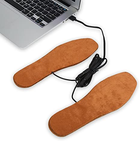USB Electric Powered Heated Insoles For Shoes Boots Keep Feet Warm