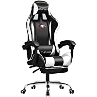 Gaming Chair PU Leather Racing Style Office Chair,Adjustable High Back Ergonomic PC Computer Chair with Headrest, Lumbar…