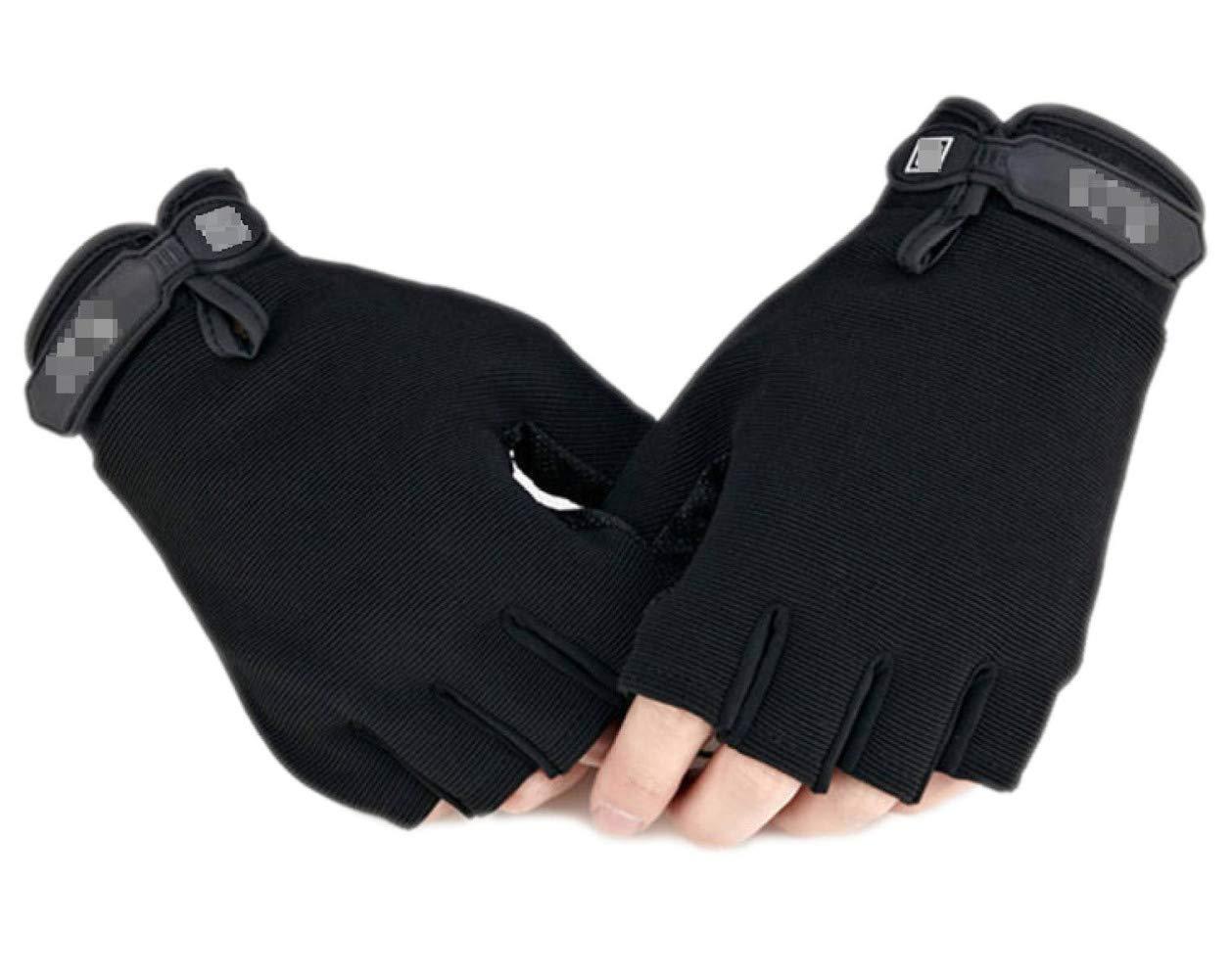 YIWANGO Herrenhandschuhe Rutschfeste Outdoor-Fitness-Sonnencreme Atmungsaktiv,1-OneGröße