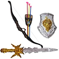 V SHINE Plastic Warrior Set with Kings Sword, Shield and Archery