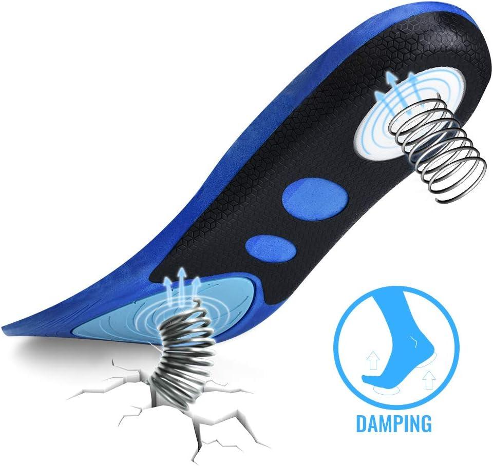 R/éduit la Fatigue Musculaire et Soulager la Douleur au Pied Bleu Soumit Semelle Confortable pour Sport Semelle Antichoc pour Activit/és Sportives Courir Jogging Basket-Ball