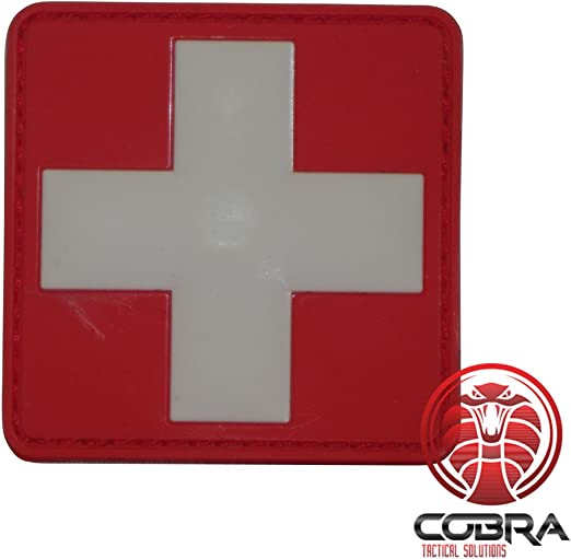Cobra Tactical Solutions Bandera Suiza Parche Bordado Táctico Moral Militar Cinta Adherente de Airsoft Cosplay Para Ropa de Mochila Táctica: Amazon.es: Hogar