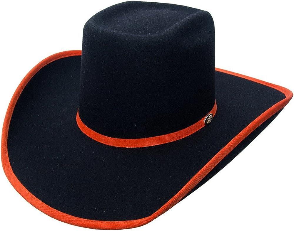 Cuernos Chuecos 6X Brick Crown with Ribbon Felt Hat