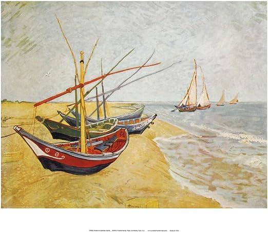 Vincent van Gogh Art Poster Boats at Les Saintes-Maries