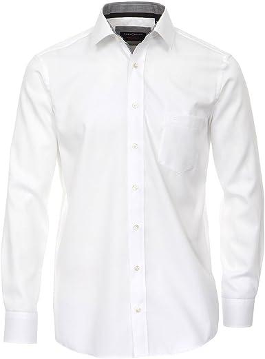 Casamoda Camisa estructurada sin Plancha Blanca Gris Oversize ...