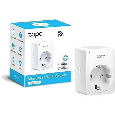 TP-Link Tapo P100 - WiFi Enchufe Inteligente Mini tamaño para Controlar su Dispositivo Desde Cualquier Lugar, sin Necesidad de Concentrador, Funciona con Amazon Alexa y Google Home e IFTTT