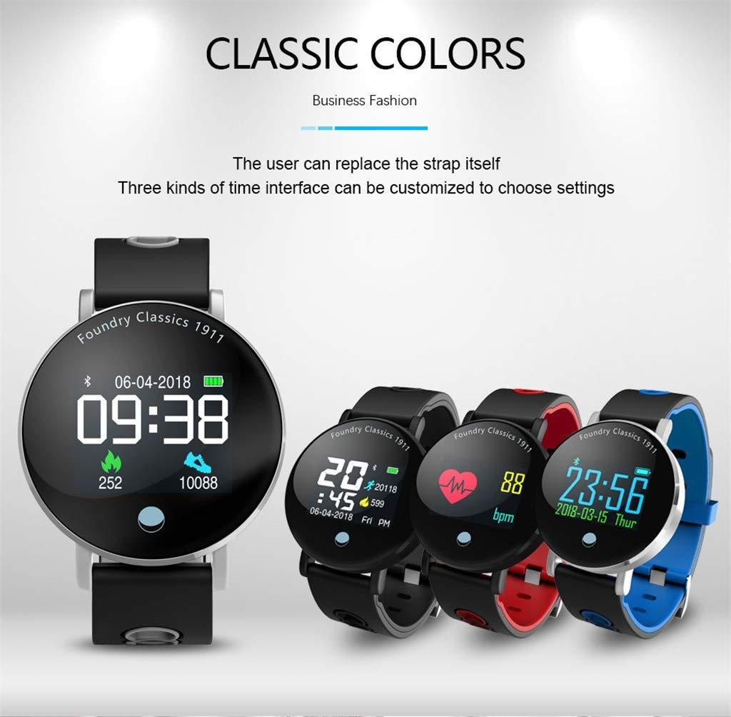 Cebbay Reloj Inteligente Bluetooth 4.0 presión Arterial corazón Monitor Reloj Deportivo Pulsera Inteligente Reloj electronico Reloj de Hombre Reloj led: ...