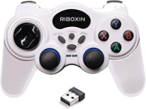 PC Controller Wireless Controller for PC Gaming Controller USB Game Controller Steam Controller Gamepad Support PC (Windows XP/7/8/10)/ Laptop/ PS3 and Android with Turbo/Vibration Function
