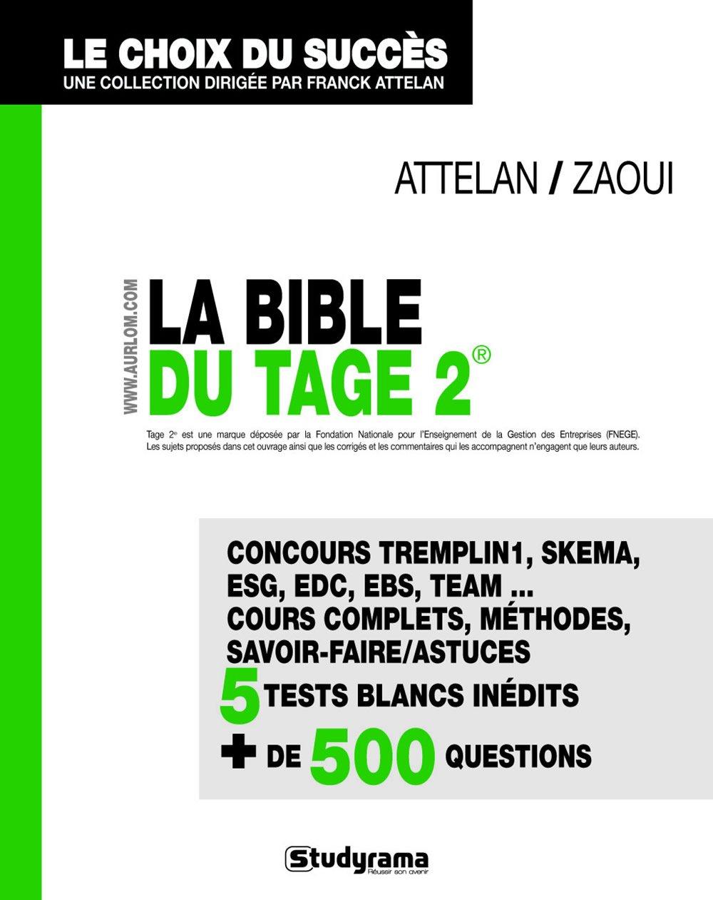 la bible du Tage 2 (French) Paperback