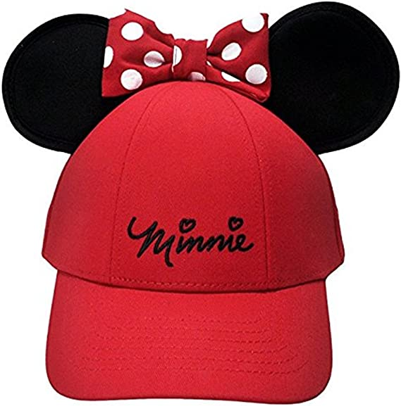 Disney Minnie Mouse de la Mujer Lazo Orejas Gorra, Rojo: Amazon.es ...