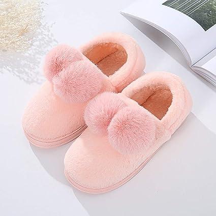 ZLULU Zapatillas de estar por casa De Invierno De Invierno para Mujer Antideslizantes De Casa Amantes