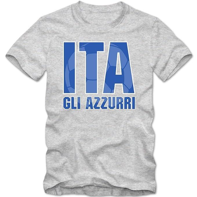 Italia Campeonato de Europa 2016#3 Camiseta | T-Shirt | Fútbol | Hombre | GLI Azzurri | Jersey | National Team: Amazon.es: Ropa y accesorios