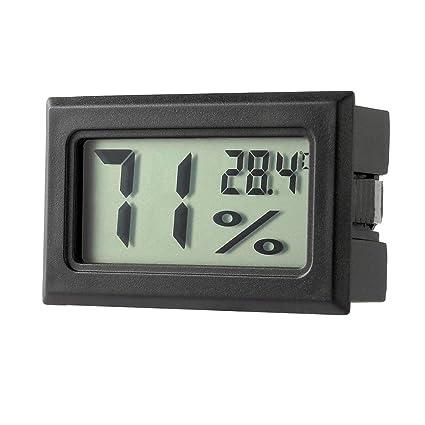Heraihe Medidor de Temperatura Mini Digital LCD Termómetro higrómetro Humedad en el Interior del Sensor Digital