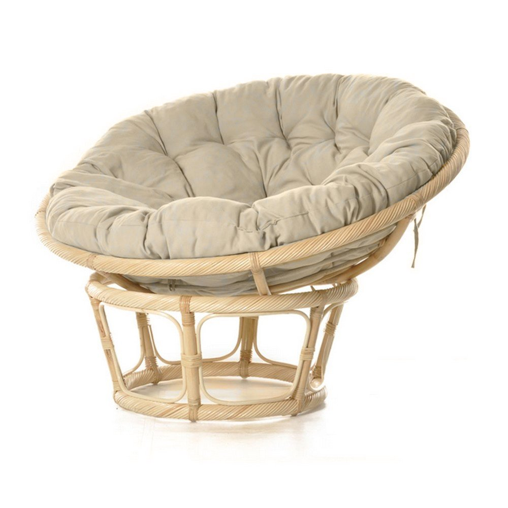 POLTRONA IN RATTAN NATURALE CON CUSCINO NEFFY SHOP