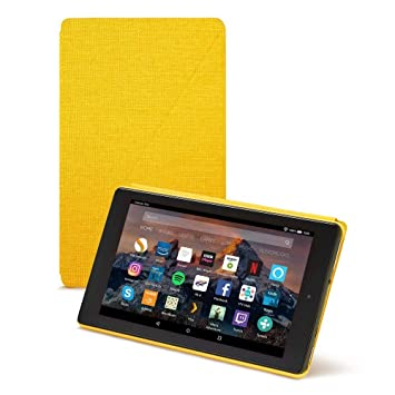 """official photos 26d89 9dd51 Amazon Fire HD 8 Case (8"""" Tablet, 7th and 8th Generation – 2017 and 2018  release), Yellow"""