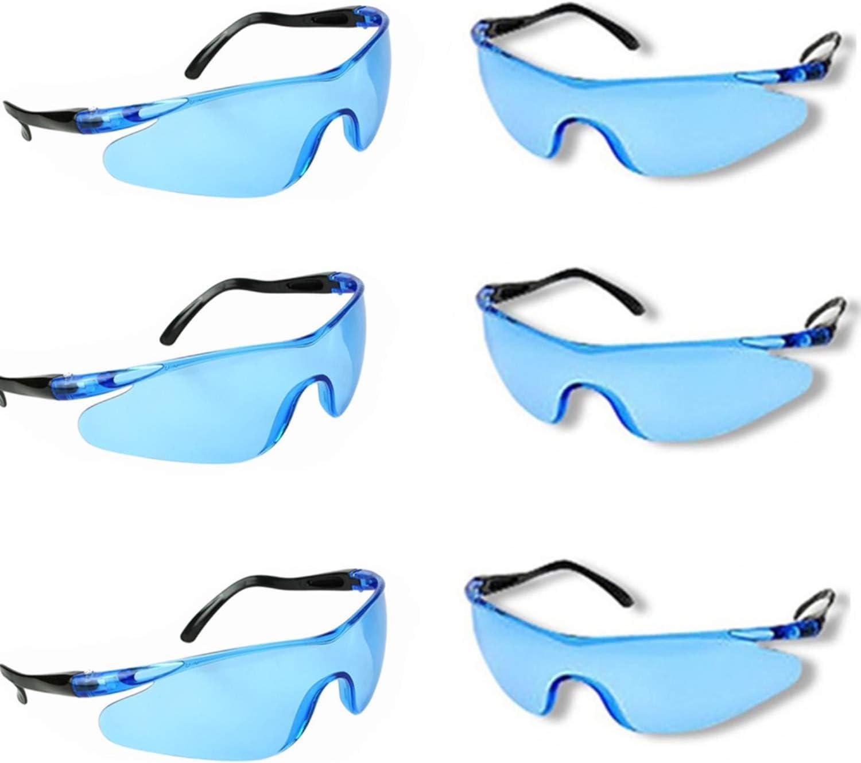 YAAVAAW 6 Pack Gafas de Seguridad Transparentes Gafas Proteccion -Gafas Protectoras Ojos con Lentes Plástico,Grandes Gafas para niños Nerf Gun Battles y Lentes de Seguridad de Trabajo de Laboratorio