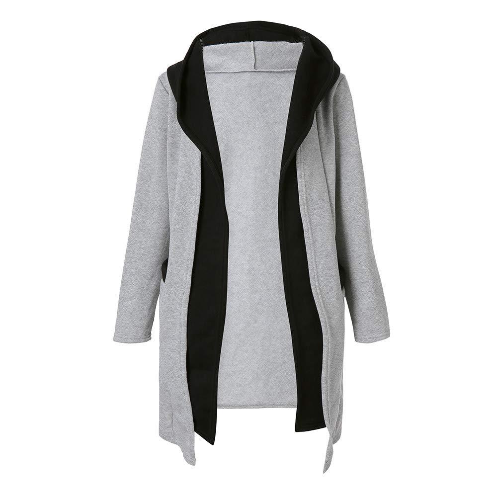Cardigan Coat,Women Winter Hooded Two False Pieces Sweatshirt