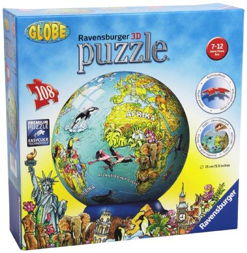 Ravensburger 12202-Illustrierte Kindererde-Puzzleball 108 Teile