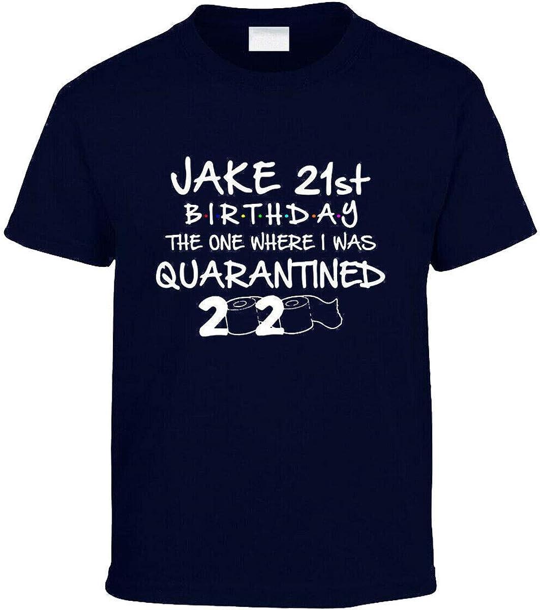 Amo Distro Social Distancing Kids Tshirt Personalised Name Birthday Quarantine Class of 2020 Unisex Boys//Girls