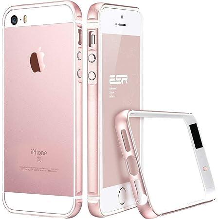 ESR Kompatibel mit iPhone SE Hülle, iPhone 5S Hülle, iPhone 5 Hülle, Fluencia Series Metallrahmen mit weiche TPU Bumper Inner