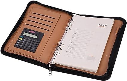 Portfolio piel sintética archivador A5 A6 – Agenda de mesa para ...