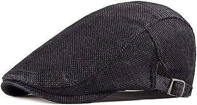 Summer Men/'s Ivy Cap Breathable mesh Gatsby cap Newsboy hat Cabbie Flat Cap
