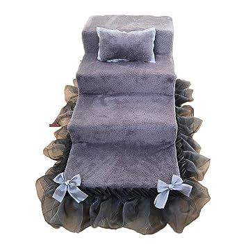LXLX 3-Step Soft Dog Stairs Mejor para Perros y Gatos, Dog Steps Rampa portátil de algodón Pet Steps Home Stairs (Color : Gray): Amazon.es: Hogar